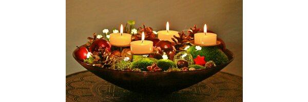 Dekoration und Kerzenzubehör