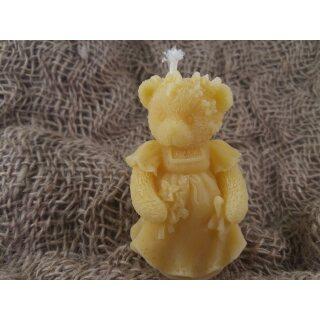 Kerze Bärenbraut aus Bienenwachs