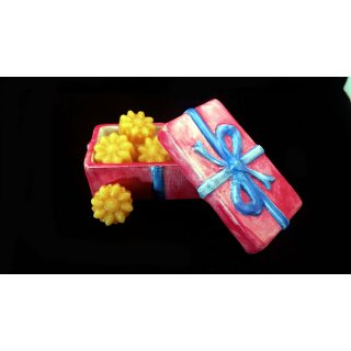"""Gift box """"Gift"""" with beeswax scented melts, fragrance lily of the valley. Jewelry Box"""