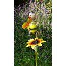 Metall Gartendekostecker 80 cm, mit fröhlicher Biene...