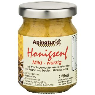 Honey mustard mild, 140 ml