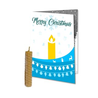 "Weihnachtskarte blau ""Merry Christmas"""