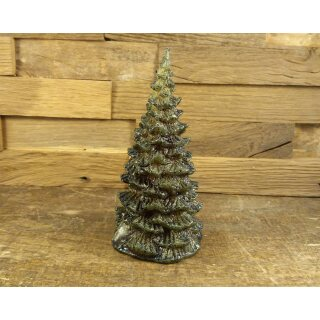 Fir tree, green lacquered with glitter