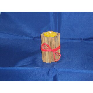 Tea light holder cinnamon with tea light