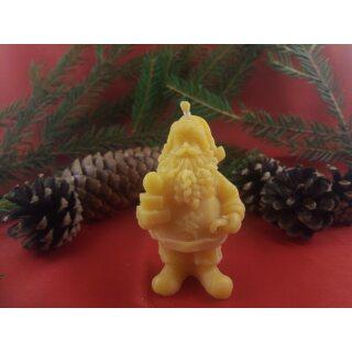 Kerze Weihnachtsmann aus Bienenwachs